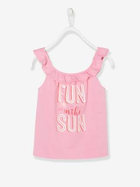 Bonnes affaires-Girls-Tops-Top with Frills & Motifs with Glitter, for Girls