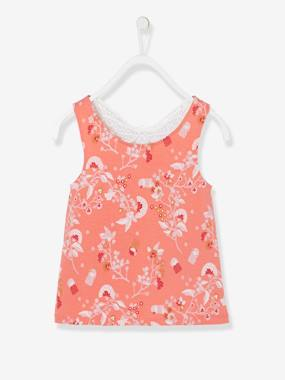 Girls-Tops-Top with Macramé Butterfly on the Back, for Girls