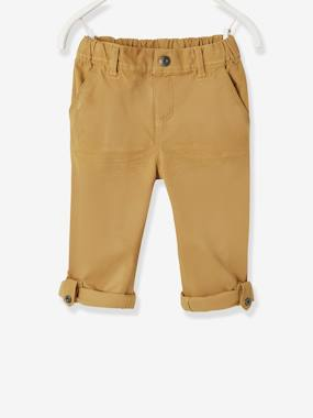 Vertbaudet Collection-Boys-Boys' Indestructible Cropped Trousers, Convertible into Bermuda Shorts