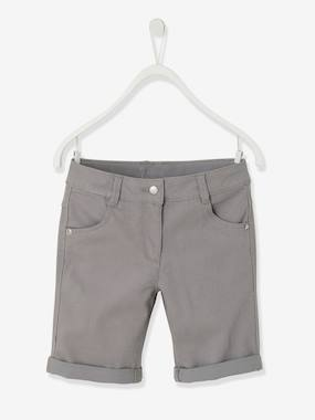 Girls-Shorts-Girls' Stretch Twill Bermuda Shorts