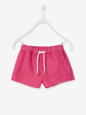 Girls-Shorts-Shorts with Ruffles for Girls