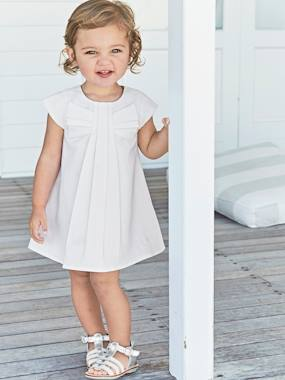 Dresses-Baby Girls Short-Sleeved Dress