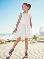 2-in-1 Occasion Wear Dress with Top in Broderie Anglaise  - vertbaudet enfant