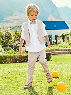 Festive favourite-Boys-Occasion Wear Cotton/Linen Waistcoat for Boys