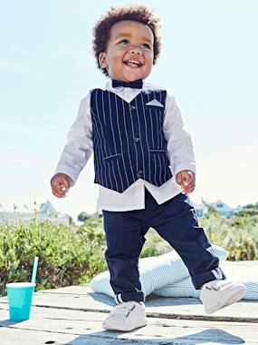Baby-Outfits-Baby Boys' Cardigan, Shirt, Bowtie & Trousers Outfit Set