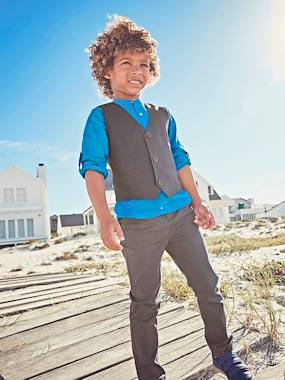 Coat & Jacket-Occasion Wear Cotton/Linen Waistcoat for Boys