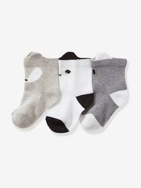 Baby-Socks & Tights-Pack of 3 Pairs of Stylish Baby Socks