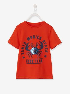Boys-Tops-T-Shirts-T-Shirt with Reversible Sequins, for Boys