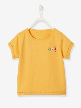Bonnes affaires-Girls-Tops-T-Shirt with Toucans Embroidered on the Chest, for Girls