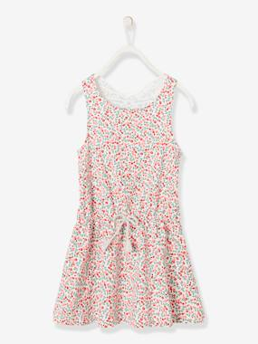 Vertbaudet Collection-Dress with Macramé Butterfly on the Back, for Girls