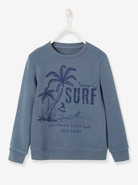 Summer collection-Boys-Cardigans, Jumpers & Sweatshirts-Sweatshirt with Surf Motif, for Boys