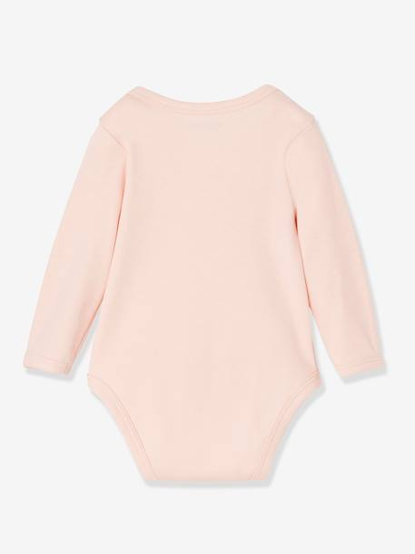 Pack of 5 Long-Sleeved Bodysuits for Babies in Pure Cotton, Little Paradise PINK LIGHT 2 COLOR/MULTICOL R - vertbaudet enfant