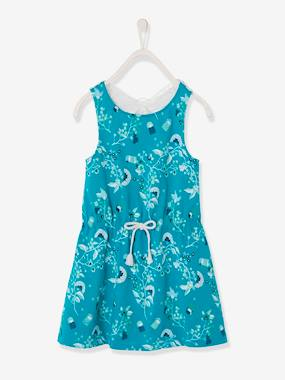 Vertbaudet Sale-Girls-Dress with Macramé Butterfly on the Back, for Girls
