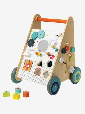 Toys-Baby's First Toys-Wooden Walker with Brakes