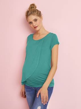 Vertbaudet Collection-Nursing T-Shirt with Crossover Panels