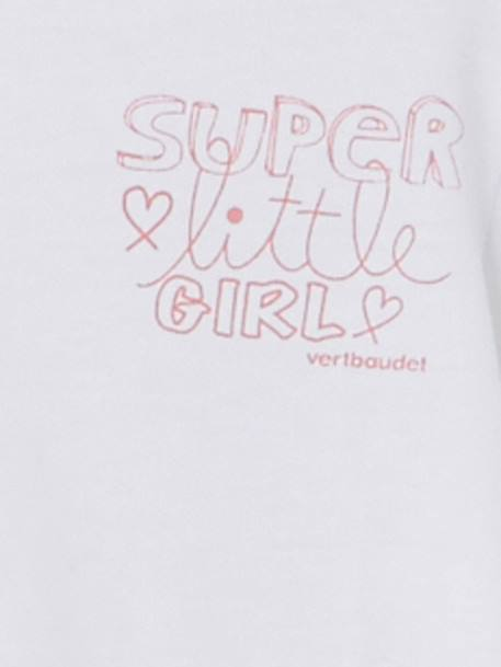 T-shirt bébé fille super little girl BLANC+ROSE+ROSE PALE - vertbaudet enfant