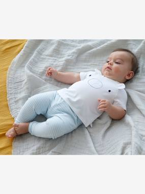 Vertbaudet Sale-Baby-T-Shirt-Bodysuit and Trouser Ensemble for Newborn Babies, Smiley Face Motif
