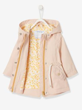 Baby-Jacket with Hood, Close-fitting at the Waist, for Baby Girls