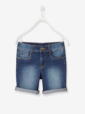 Boys-Shorts-Denim Bermuda Shorts, for Boys