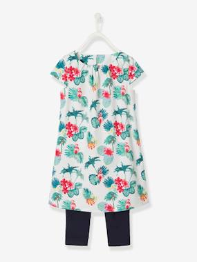 Vertbaudet Collection-Dress + Leggings Ensemble for Girls