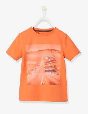 Boys-Tops-T-Shirts-T-Shirt with Photo Print Motif for Boys
