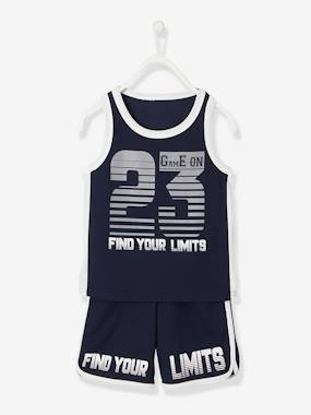 Boys-Shorts-Sports Combo for Boys, Tank Top + Shorts