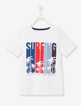 Boys-Tops-T-Shirts-T-Shirt with Exotic Motif, for Boys