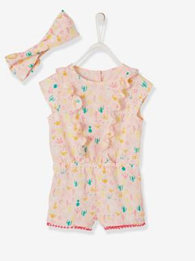 Baby-Dungarees & All-in-ones-Playsuit + Cactus Headband, for Baby Girls