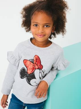 Girls-Cardigans, Jumpers & Sweatshirts-Sweatshirts & Hoodies-Minnie® Sweatshirt, Long Sleeves with Ruffles
