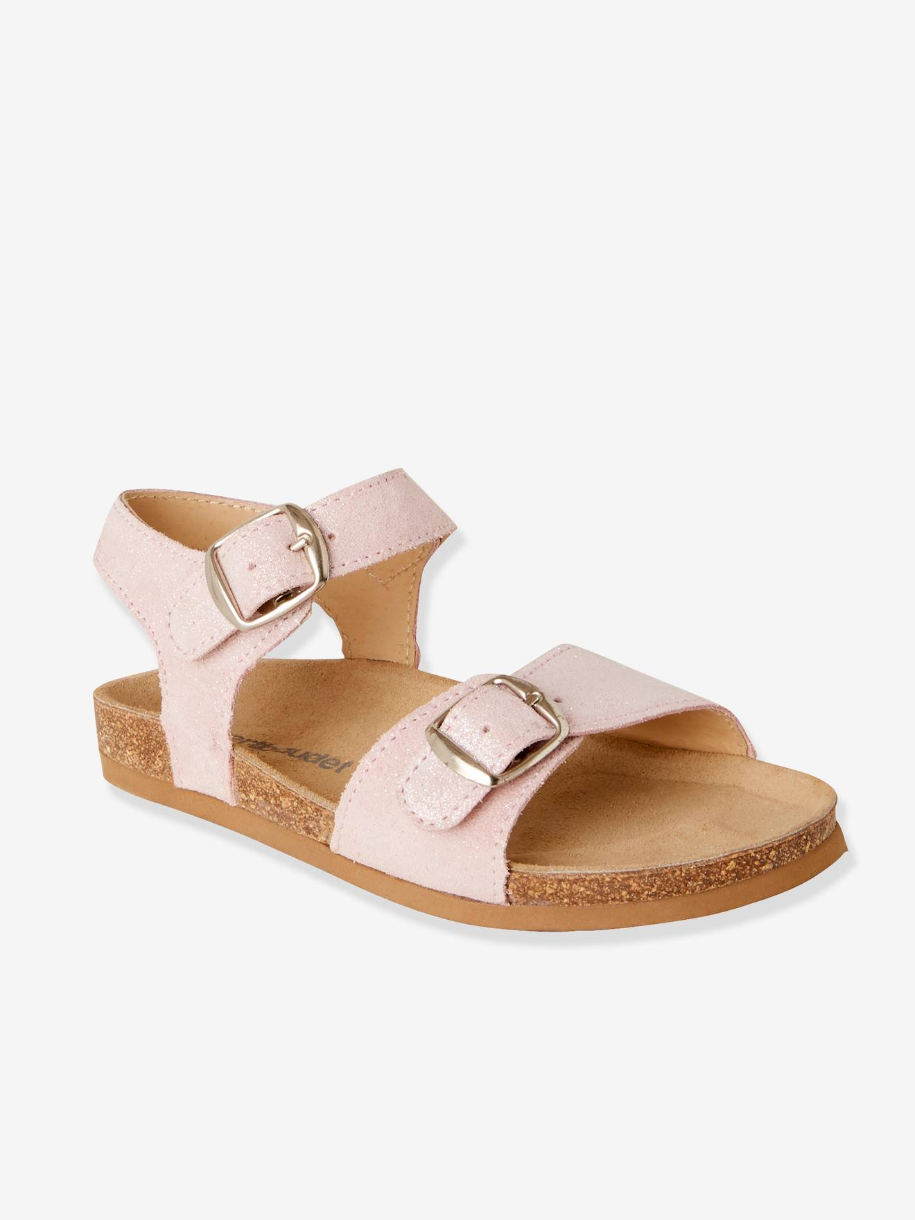 For Girls Pink Light SolidShoes Anatomic Leather Sandals b6fg7y