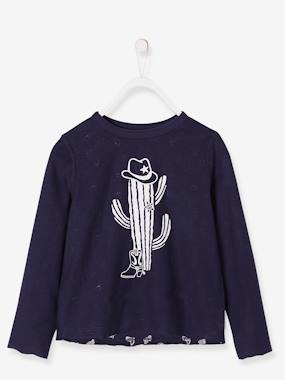 Vertbaudet Sale-Boys-Reversible Top for Boys, with Cowboy Motifs