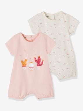Basics and Multipacks-Babies' Pack of 2 Cotton Pyjamas, Press-studs on the Back
