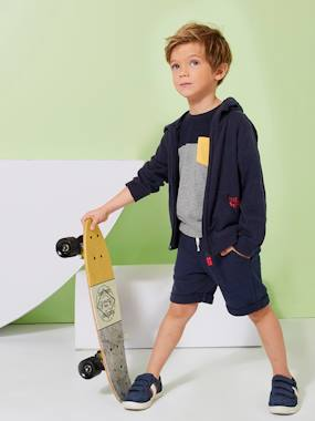 Summer collection-Boys-Cardigans, Jumpers & Sweatshirts-Zipped Jacket with Hood for Boys