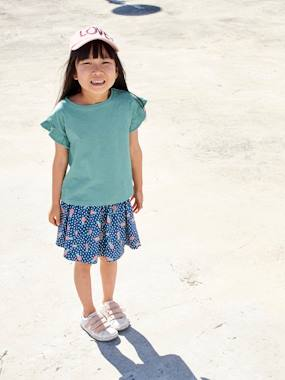 haut-Short-Sleeved T-Shirt for Girls, with Ruffles