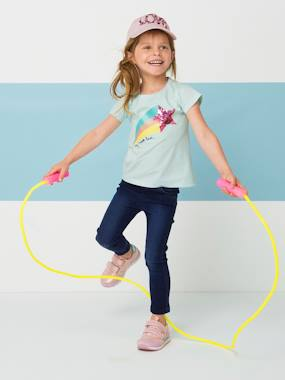 haut-Magical T-Shirt for Girls with Reversible Sequins and Glitter
