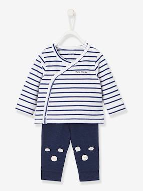 Vertbaudet Sale-Baby-Newborn Baby Ensemble, Stylish Top & Trousers