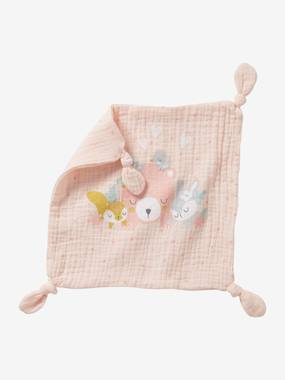 Toys-Square Baby Comforter in Fabric, Forest