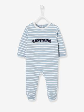 Vertbaudet Collection-Baby-Pyjamas-Fleece Sleepsuit for Babies, Back with Press Studs