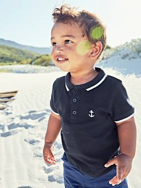 Festive favourite-Baby-Polo Shirt with Embroidery on the Chest, for Baby Boys