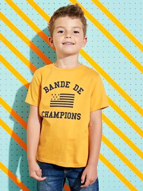 "Vertbaudet Collection-Boys-T-Shirt with ""Bande de Champions"" Motif for Boys"