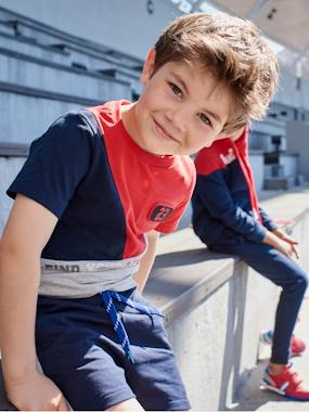 Boys-Tops-T-Shirts-Colour Block Sports T-Shirt for Boys
