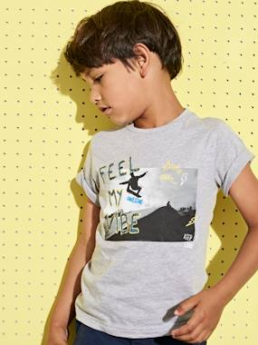 Boys-Tops-T-Shirts-T-Shirt with Photo Print for Boys
