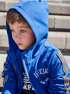 Summer collection-Boys-Cardigans, Jumpers & Sweatshirts-Sports Jacket with Zip for Boys