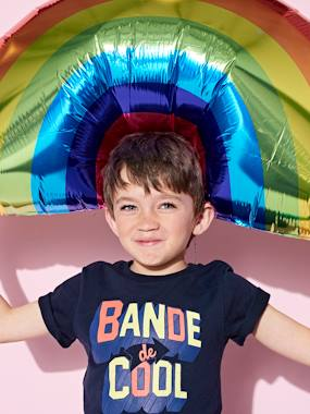 "Boys-Tops-T-Shirts-T-Shirt for Boys, ""Bande de Cool"" Inscription in 3D-Effect"