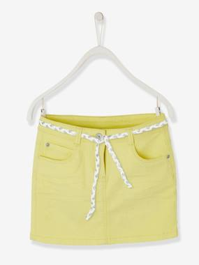 Vertbaudet Basics-Girls-Skirt in Stretch Twill for Girls