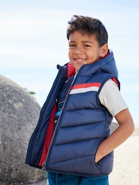 Boys-Coats & Jackets-Padded Jackets-Hooded Waistcoat