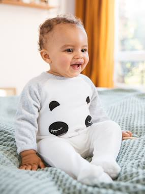 Winter collection-Baby-Babies' Velour Pyjamas, Press-studs on the Back