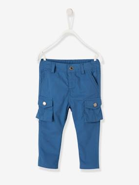 Mid season sale-Baby-Trousers & Jeans-Cargo-style Trousers in Cotton for Baby Boys