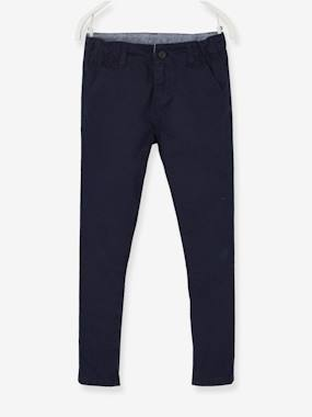 Vertbaudet Sale-Boys-Chino Trousers for Boys