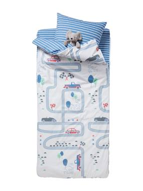 Bedding-Child's Bedding-Ready-for-Bed with Duvet, Racing Track Theme: 4-Piece Set